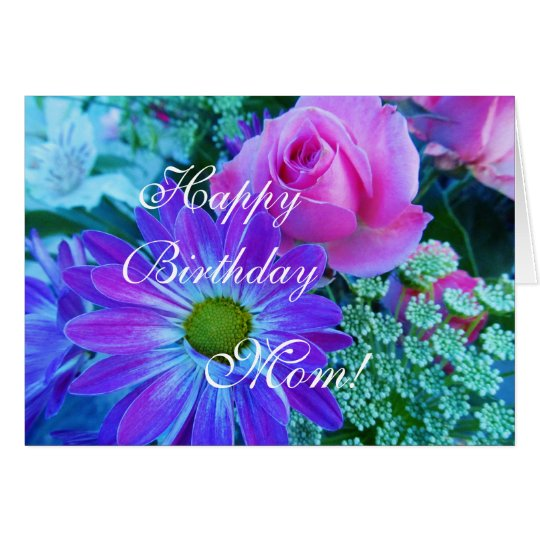 Roses for Mom Happy Birthday mom Card – Happy Birthday Mom Card