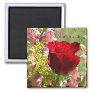 Roses for Mother/ Happy Mother's Day 2 Inch Square Magnet
