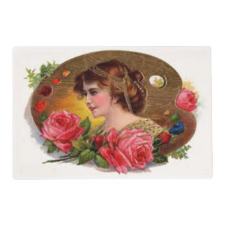 Roses for Mother - Vintage Laminated Place Mat