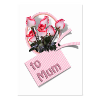 Roses For Mum on Mother's Day (Add Any Color) Large Business Cards (Pack Of 100)