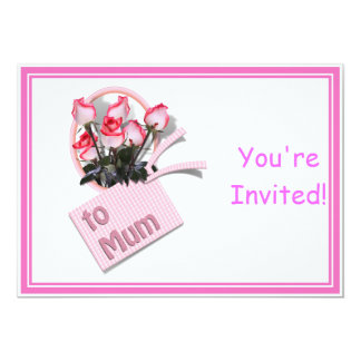 """Roses For Mum on Mother's Day (Add Any Color) 5"""" X 7"""" Invitation Card"""