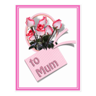 Roses For Mum on Mother's Day (Add Any Color) Postcard