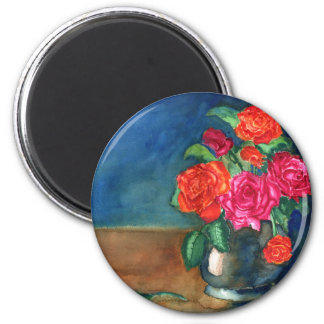 Roses for My Love 2 Inch Round Magnet