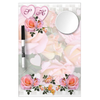 Roses for my Love ~ Dry-Erase Board With Mirror