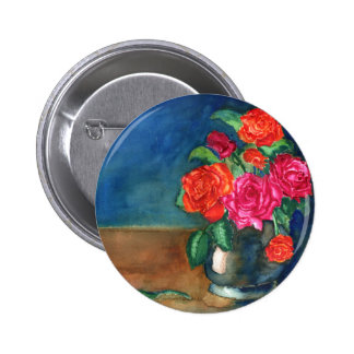 Roses for My Love Pinback Button