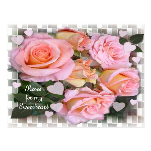 Roses for my Love ~ Postcard