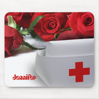 Roses for Nurse. Custom Name Gift Mousepads