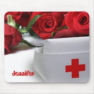 Roses for Nurse. Custom Name Gift Mousepads