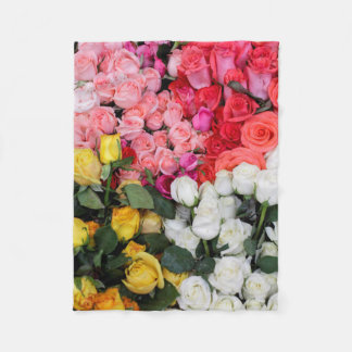 Roses for sale, San Miguel de Allende, Mexico Fleece Blanket