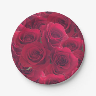 Roses for you paper plate