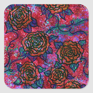 Roses for You Square Sticker