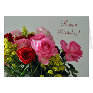 Roses For Your Birthday Card by Janz