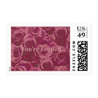roses forever-You re Invited Stamps