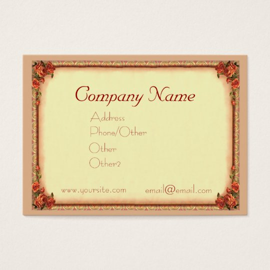 ROSES & FRAME by SHARON SHARPE Business Card