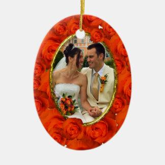 Roses Frame Ceramic Ornament