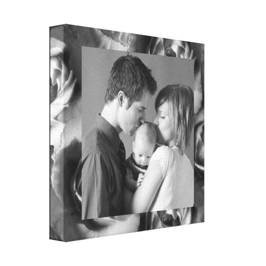 Roses Frame- CUSTOMIZE!! Canvas Print