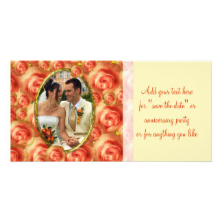 Roses Frame Photo Card Template
