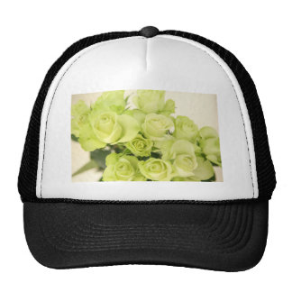 Roses green trucker hat