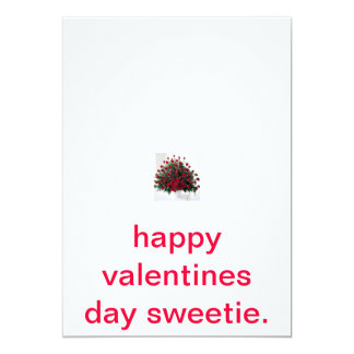 roses, happy valentines day sweetie. card