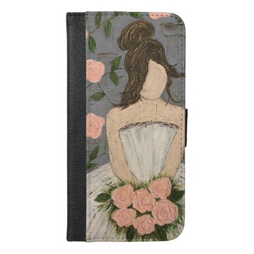 Roses he brought her, phone wallet. iPhone 6/6s plus wallet case