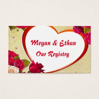 Roses & Heart Frame Image Registry Card