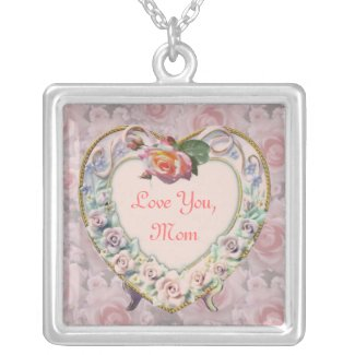 Roses Heart Frame - Mother's Day Necklace necklace