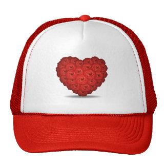 roses_heart trucker hat