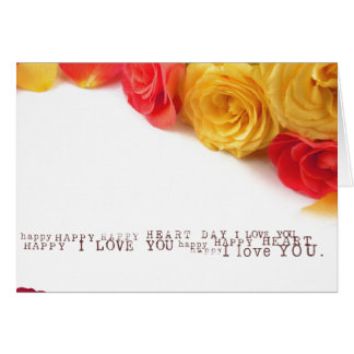 roses  heart  valentines day card