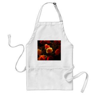 Roses I - Orange, Red and Gold Glory Adult Apron