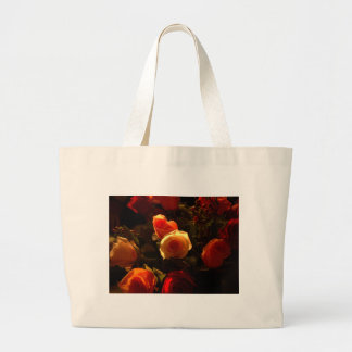 Roses I - Orange, Red and Gold Glory Canvas Bag