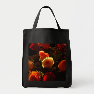 Roses I - Orange, Red and Gold Glory Canvas Bags