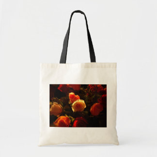 Roses I - Orange, Red and Gold Glory Tote Bags