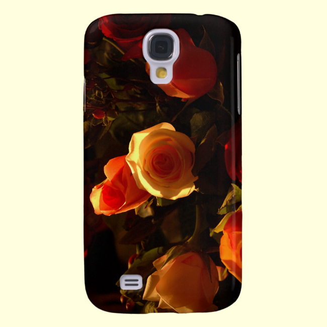 Roses I - Orange, Red and Gold Glory Galaxy S4 Cases