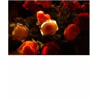 Roses I - Orange, Red and Gold Glory shirt