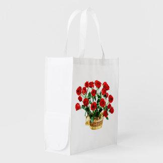 Roses image for Reusable Bag Grocery Bag