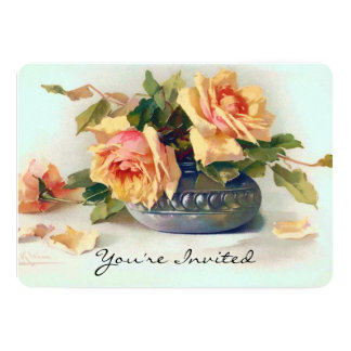 Roses in a Bowl Bridal Shower Card
