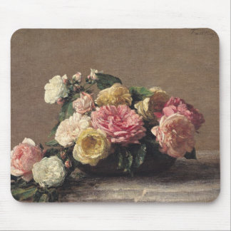 Roses in a Dish, 1882 Mouse Pad