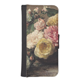 Roses in a Dish, 1882 iPhone 5 Wallet Case
