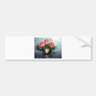 Roses in a Vase Bumper Sticker