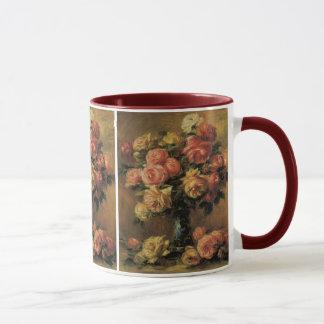 Roses in a Vase by Pierre Renoir, Vintage Fine Art Mug