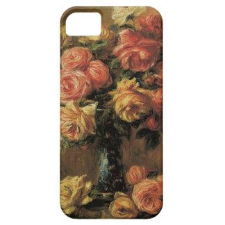 Roses in a Vase by Renoir, Vintage Impressionism iPhone 5 Cases