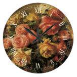 Roses in a Vase by Renoir, Vintage Impressionism Clock