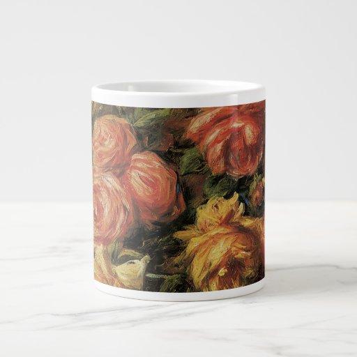 Roses in a Vase by Renoir, Vintage Impressionism Extra Large Mug