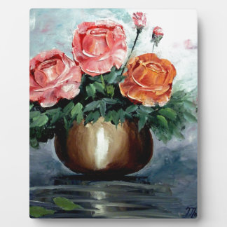 Roses in a Vase Display Plaque