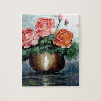 Roses in a Vase Jigsaw Puzzles