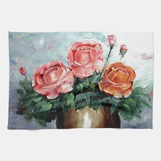 Roses in a Vase Kitchen Towel