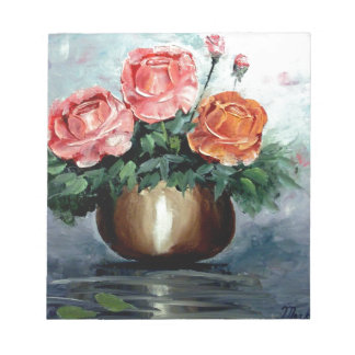 Roses in a Vase Memo Notepad