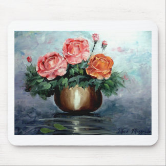 Roses in a Vase Mouse Pad
