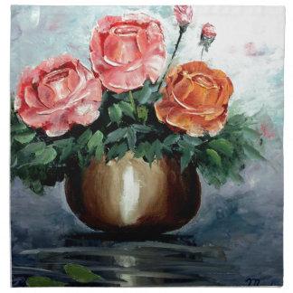 Roses in a Vase Napkins