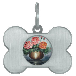 Roses in a Vase Pet ID Tag
